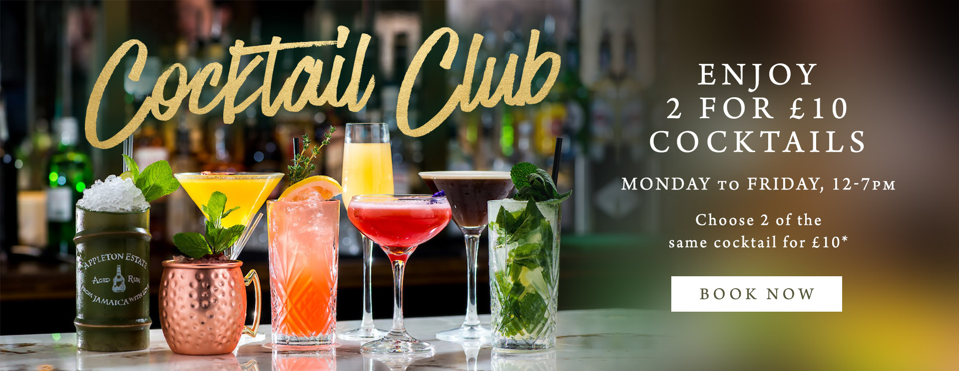 2 for £10 cocktails at The Green House