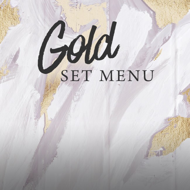 Gold set menu at The Green House