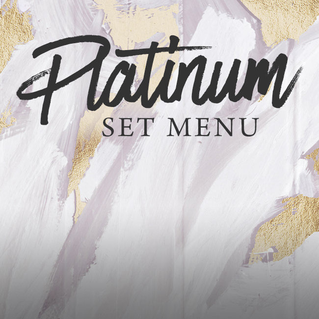 Platinum set menu at The Green House