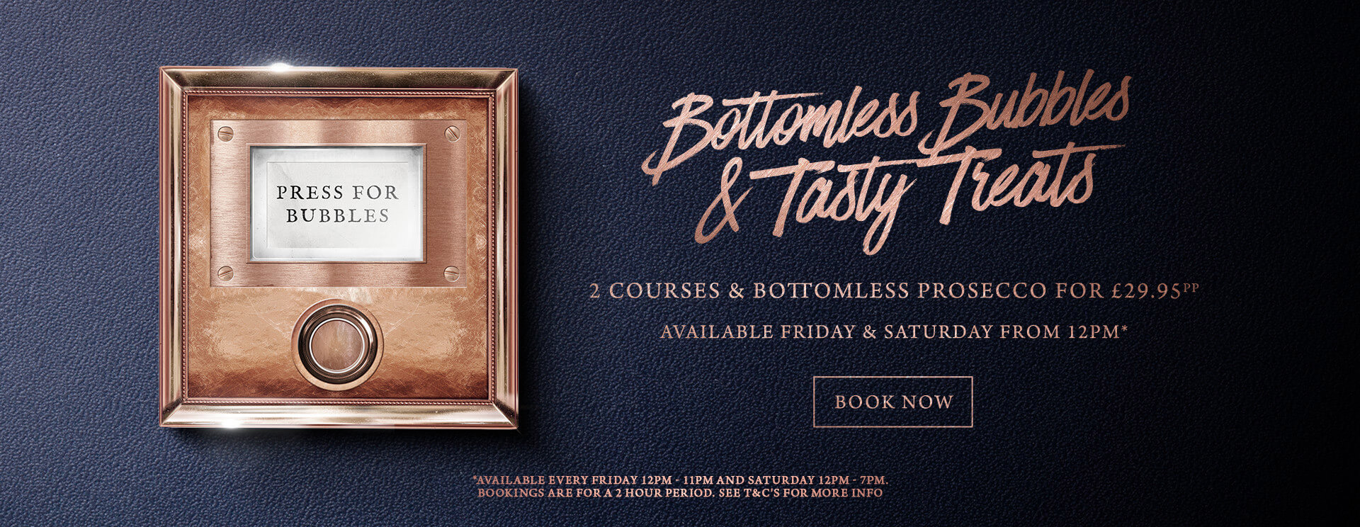 Bottomless Bubbles The Green House - Book now