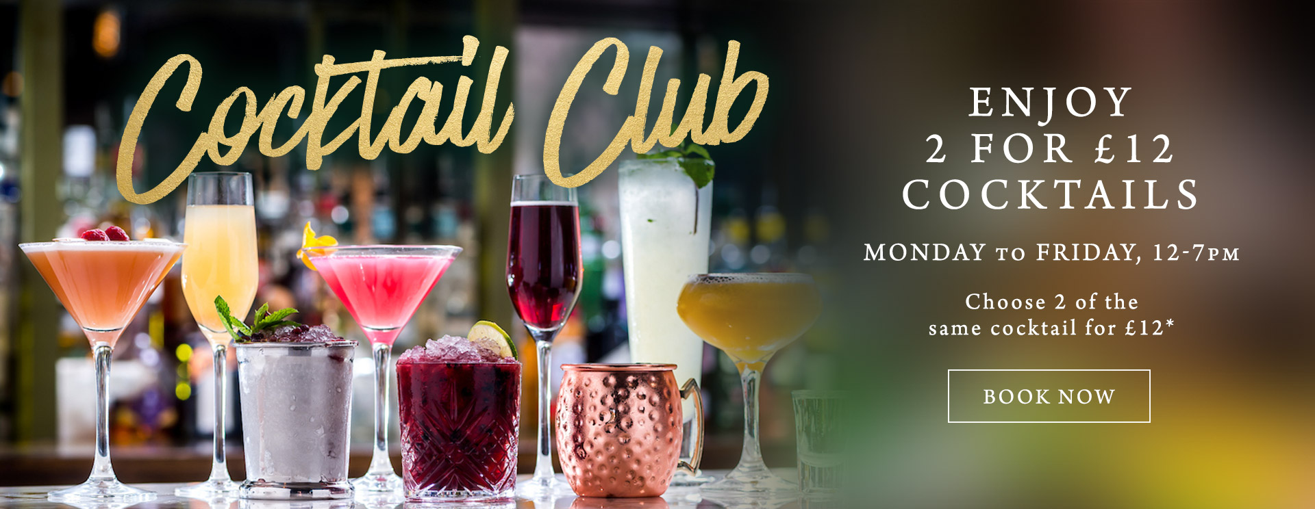 2 for £12 cocktails at The Green House